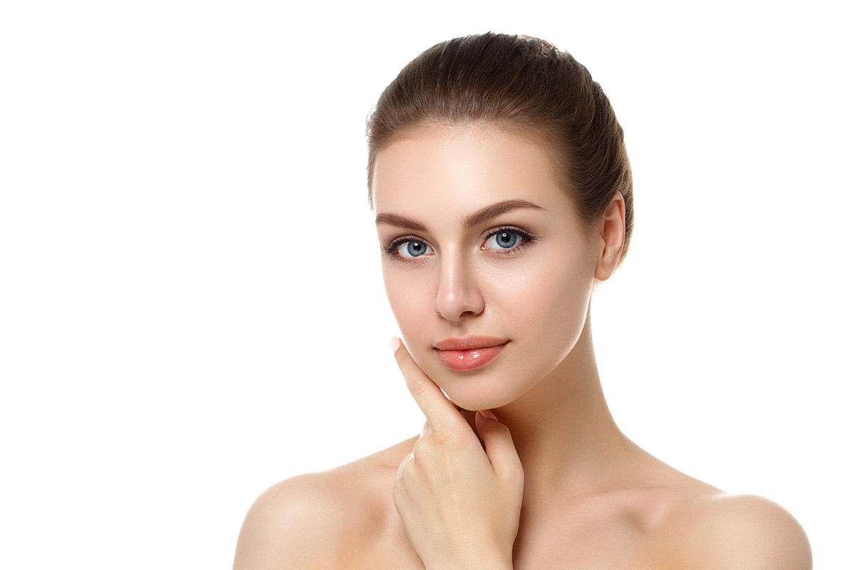 Face after microneedling
